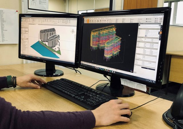 TEKLA and Revit software of Manchester Waters Block A and B steel frame