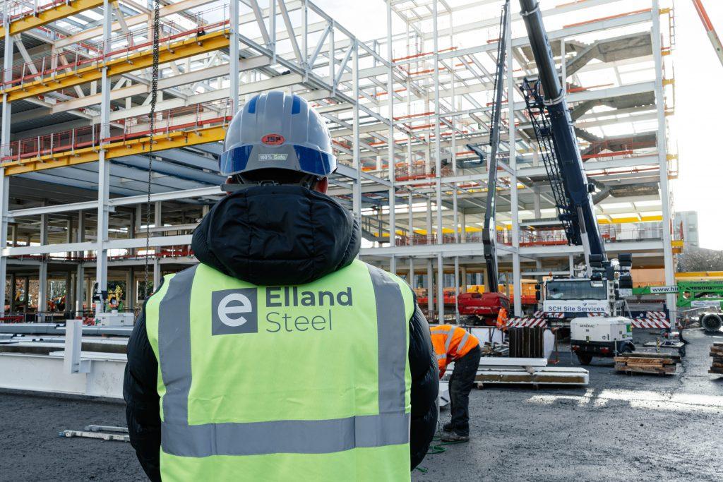Elland Steel team on site at University of Salford SEE building
