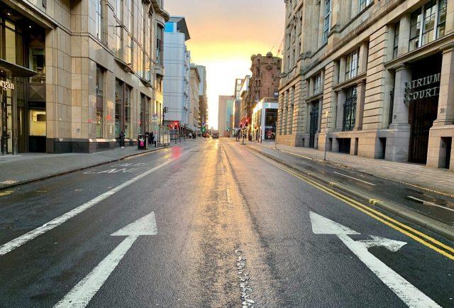 selective focus photo of concrete road