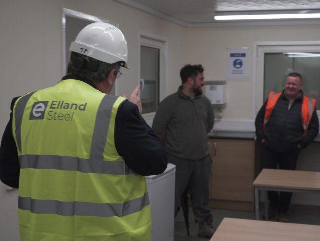 Elland Steel site team and HSQE manager
