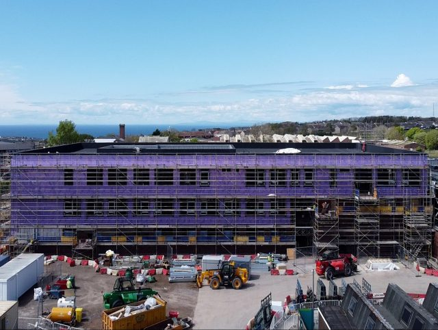 Whitehaven Academy during construction
