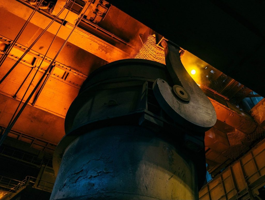 Steel manufacturing process, smelting of materials